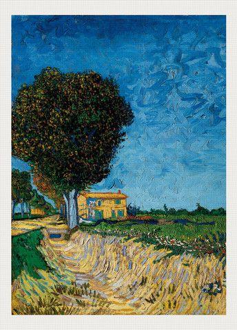 Avenue bij Arles, Vincent van Gogh www.chelseaneedlepoint.com