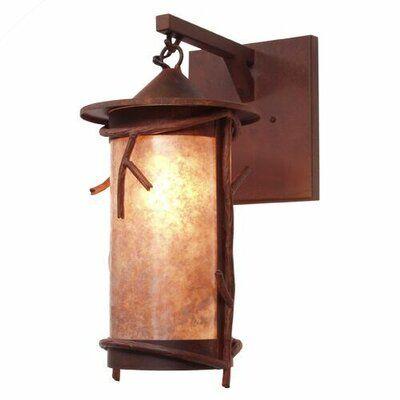 Loon Peak Ber 1-Light Outdoor Wall Lantern