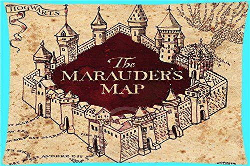 Harry Potter Marauders Map (Karte des Rumtreibers) Vintag… | Stuff ...