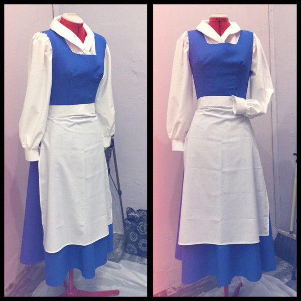 belle blue dress from the beauty and the beast cosplay costume 210 liked