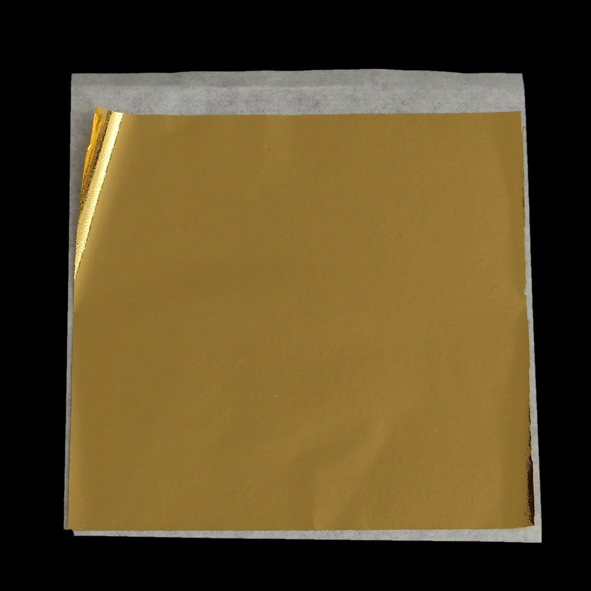 100pcs 9 5x8 5cm Gold Foil Paper Gold Leaf Foil Sheets Feuille Feuille D Or Decorations Dorees