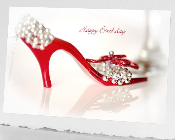 Shoe Birthday CARD Blank Notecard Bokeh by HPaquinPhotography - blank xmas cards