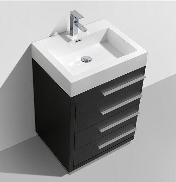 24 Grey Oak Bathroom Vanity 24 Inch Bathroom Vanity Bathroom