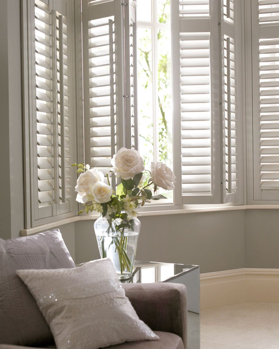 Bay window shutters - Laura Ashley Shutter Collection Thomas Sanderson Bay Window
