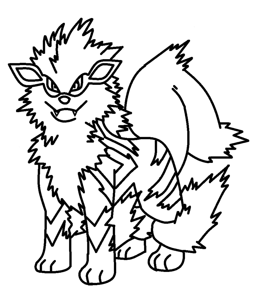 Pokemon Arcanine Coloring Pages Pokemon Arcanine Pokemon Coloring Coloring Pages