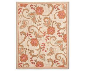 Living Colors Monaco Collection Jacobean Area Rug 5 X 6 7 Big Lots Rugs Area Rugs Jacobean