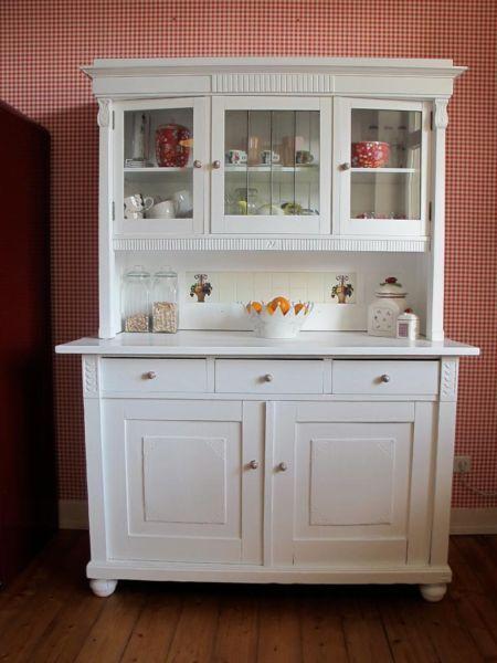 Vitrinenschrank, Küchenschrank, Vitrine, Schrank, Regalschrank in - küchenschrank mit glastüren