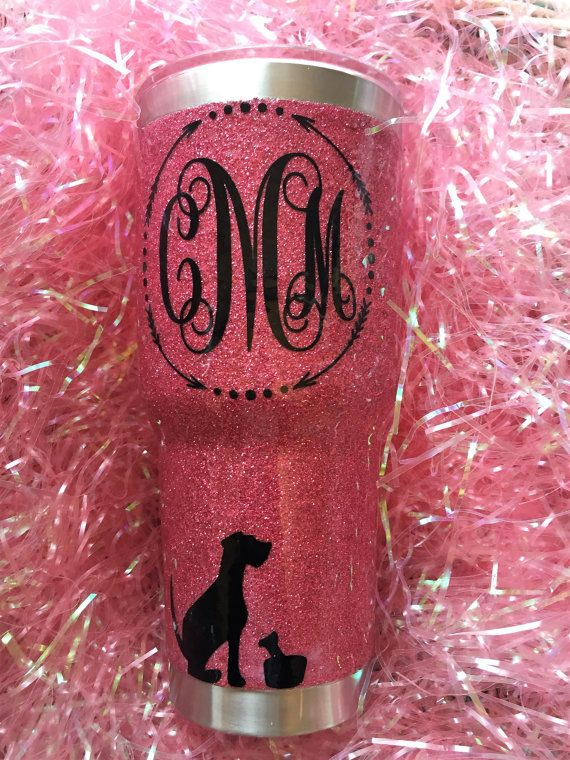 Custom Vinyl Monogram Addon Birch Tree Blvd Pinterest Vinyl - Custom vinyl stickers for cups