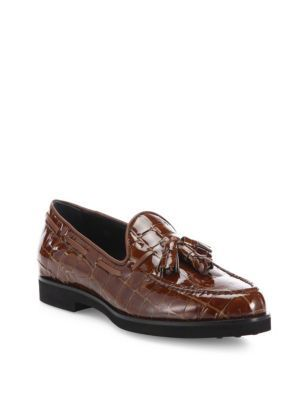 outlet best sale clearance pay with visa Tod's Croc-embossed leather loafers buy cheap footlocker finishline cheap sale release dates 7ZHLArgZ