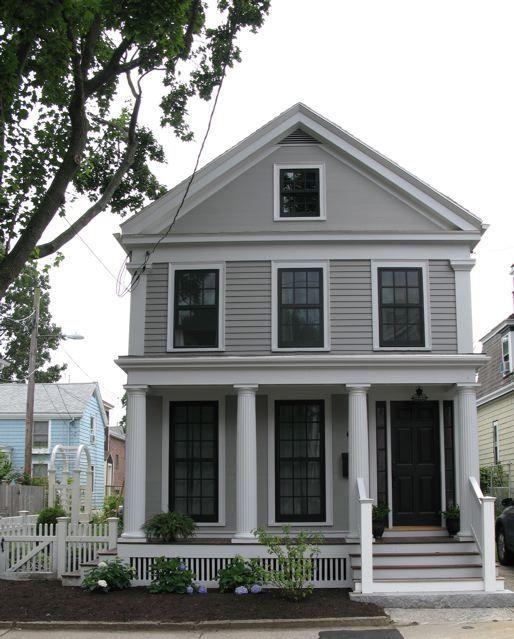 Long Lasting Exterior House Paint Colors Ideas: Body Of House: Benjamin Moore Graystone Trim: Benjamin