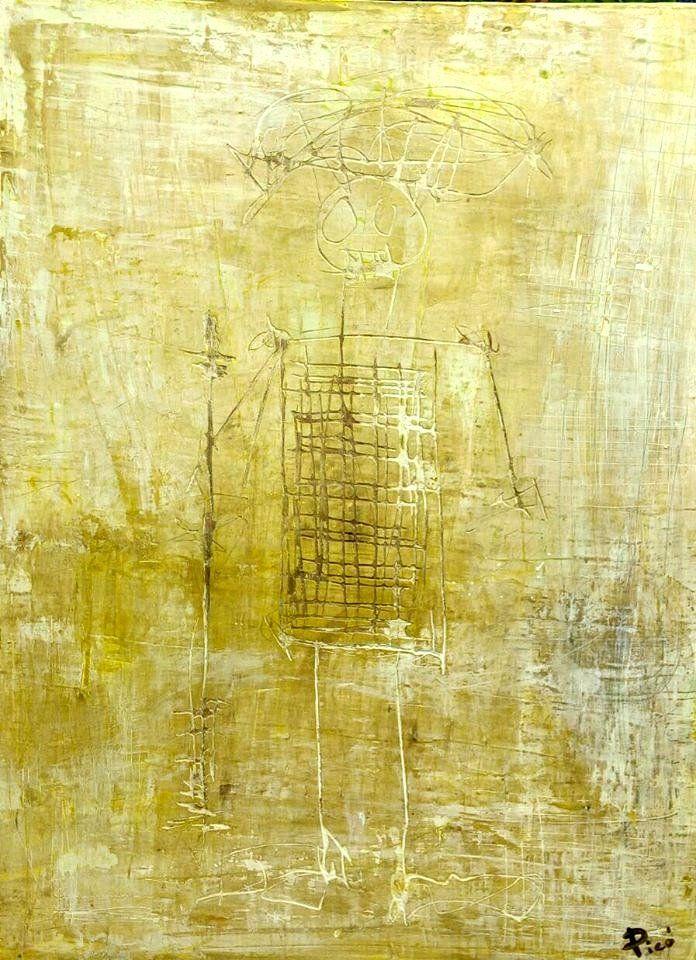 """Xamán 2"" Mixta Sobre madera 86.5 x  66 cm 2015"