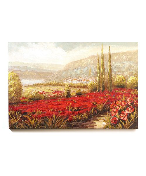 Look at this Sunrise Garden Countryside Gallery-Wrapped Canvas on #zulily today!
