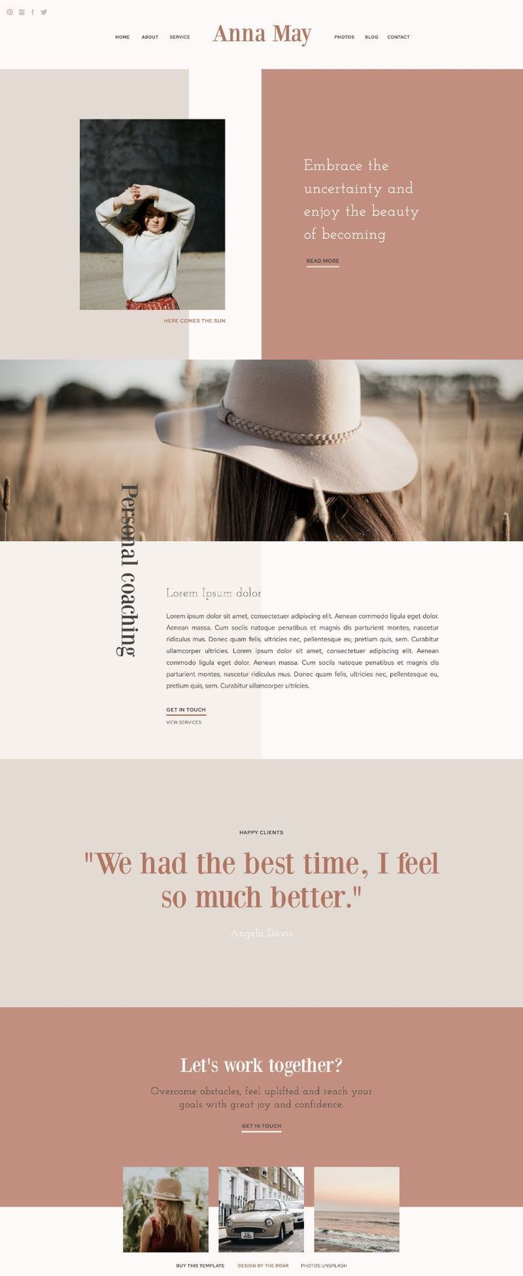 Anna May | Shop Showit Website Templates