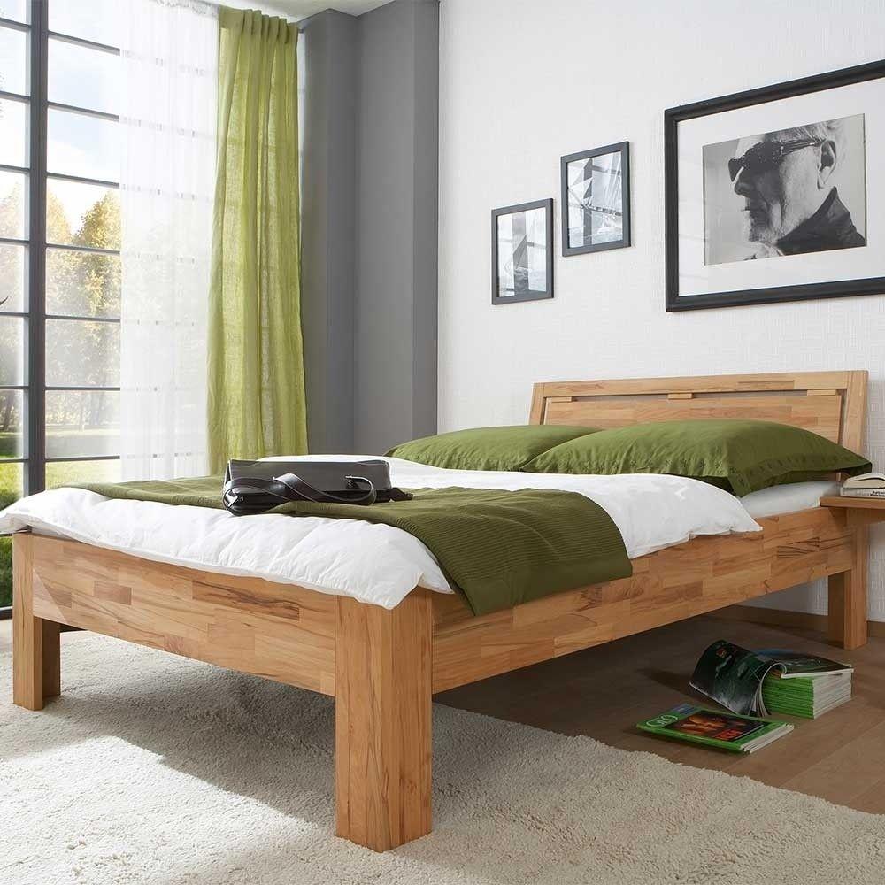Massives Kernbuche Bett Mit Komforthohe Als Einzelbett Doppelbett Jecana Einzelbett Doppelbett Haus