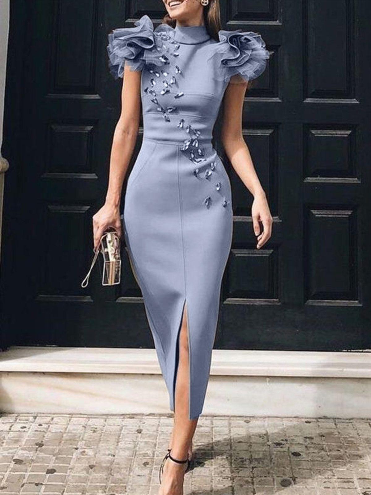 bodycon elegant cocktail midi dress - passt zu ihrem eigenen
