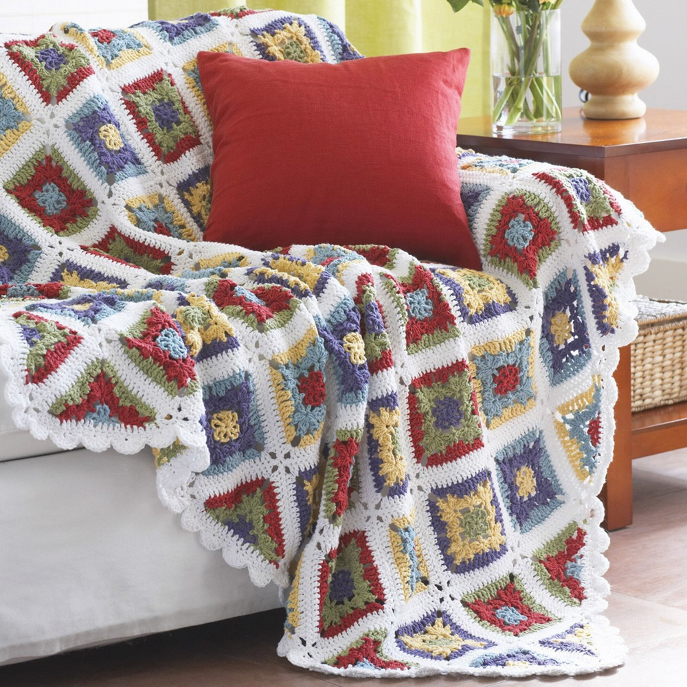 Lily Sugar n Cream Country Granny Blanket Pattern