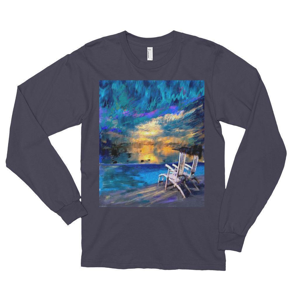 """Beachfront,"" Long sleeve t-shirt (unisex)"