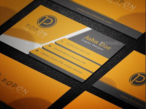 Corporate Business Card Is The Great Design For People Who Works And Do Jo Corporate Business Card Professional Business Cards Templates Business Card Template