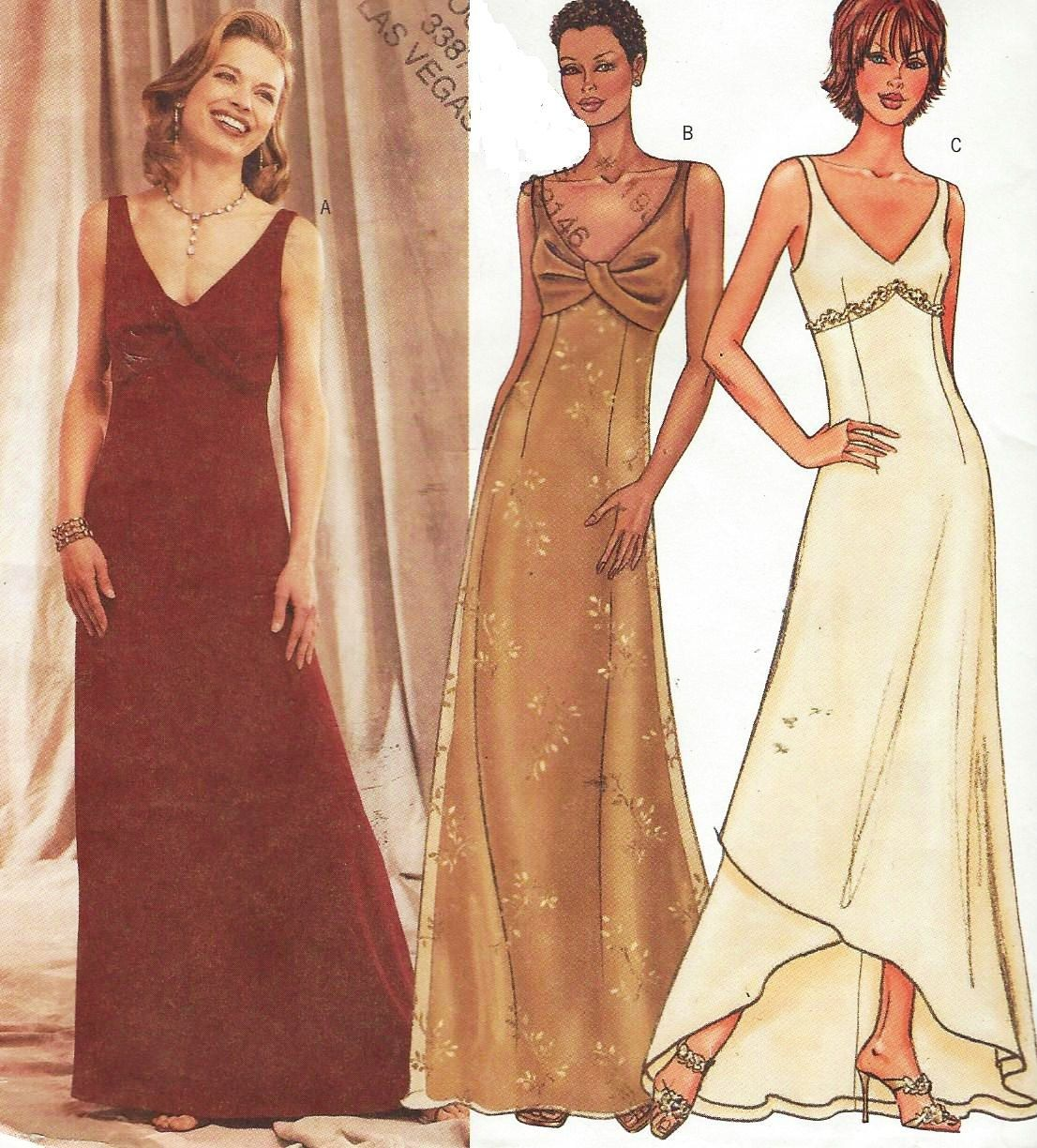 Butterick sewing pattern 3451 womens v neckline evening dress butterick sewing pattern 3451 womens v neckline evening dress empire waist size 8 10 12 bust 31 to 34 uncut prom dress or bridesmaid by cloescloset on etsy jeuxipadfo Image collections