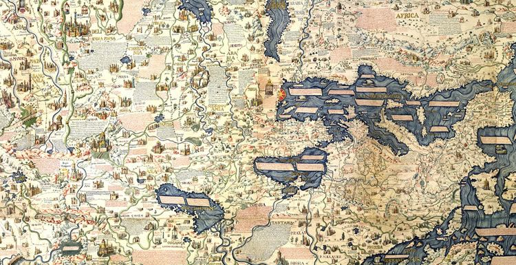Historic World Map by Fra Mauro; Antique Map c.1450