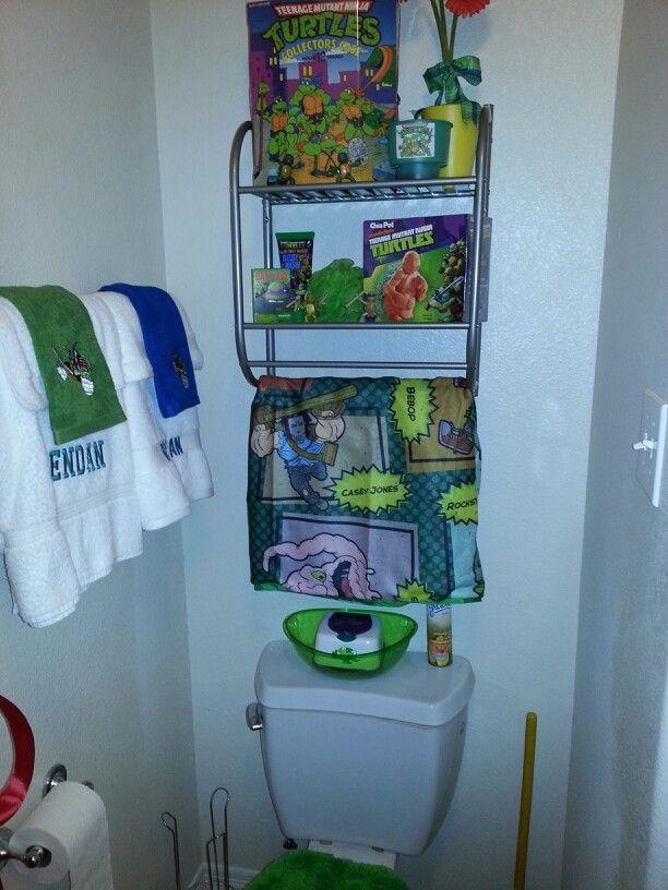 Tmnt Bathroom Idea For Hunter S Bathroom Turtle Bathroom Decor Turtle Bathroom Bathroom Decor