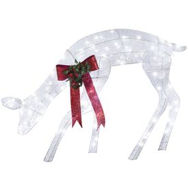 shop gemmy lighted deer outdoor christmas decoration with white led lights at lowescom - Lowes Christmas Decorations Deer