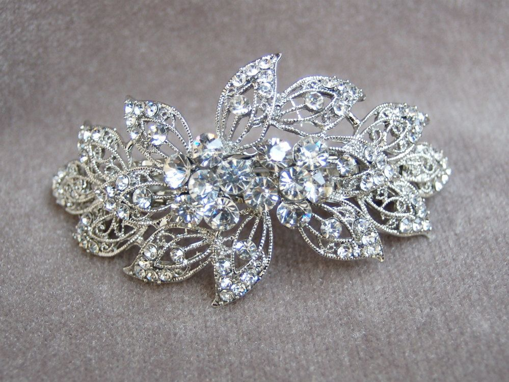 Fancy Rhinestone Bridal Hair Clip / Wedding Hair Clip / Special ...