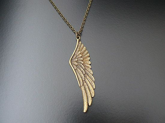 Gothic Necklace Victorian Romantic Angel Wing Wedding by skaior, $30.00