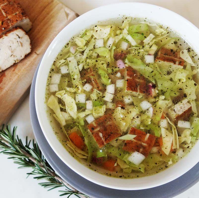 Recette diététique : soupe « repas » au chou blanc et au ...