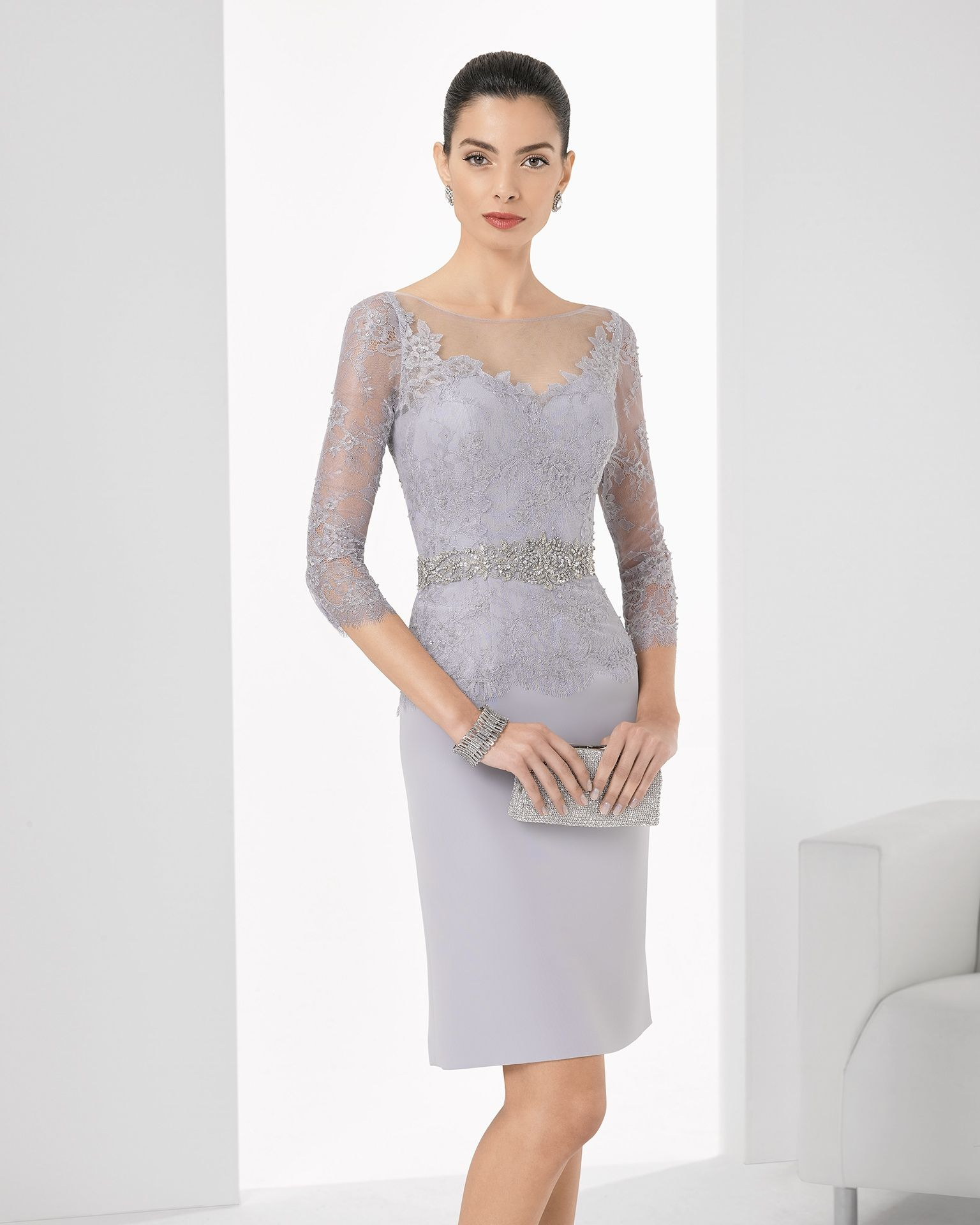 79a41f09b8 2016 9T195 COCKTAIL ROSA CLARA (Vestido de Fiesta). Diseñador  Rosa Clará.