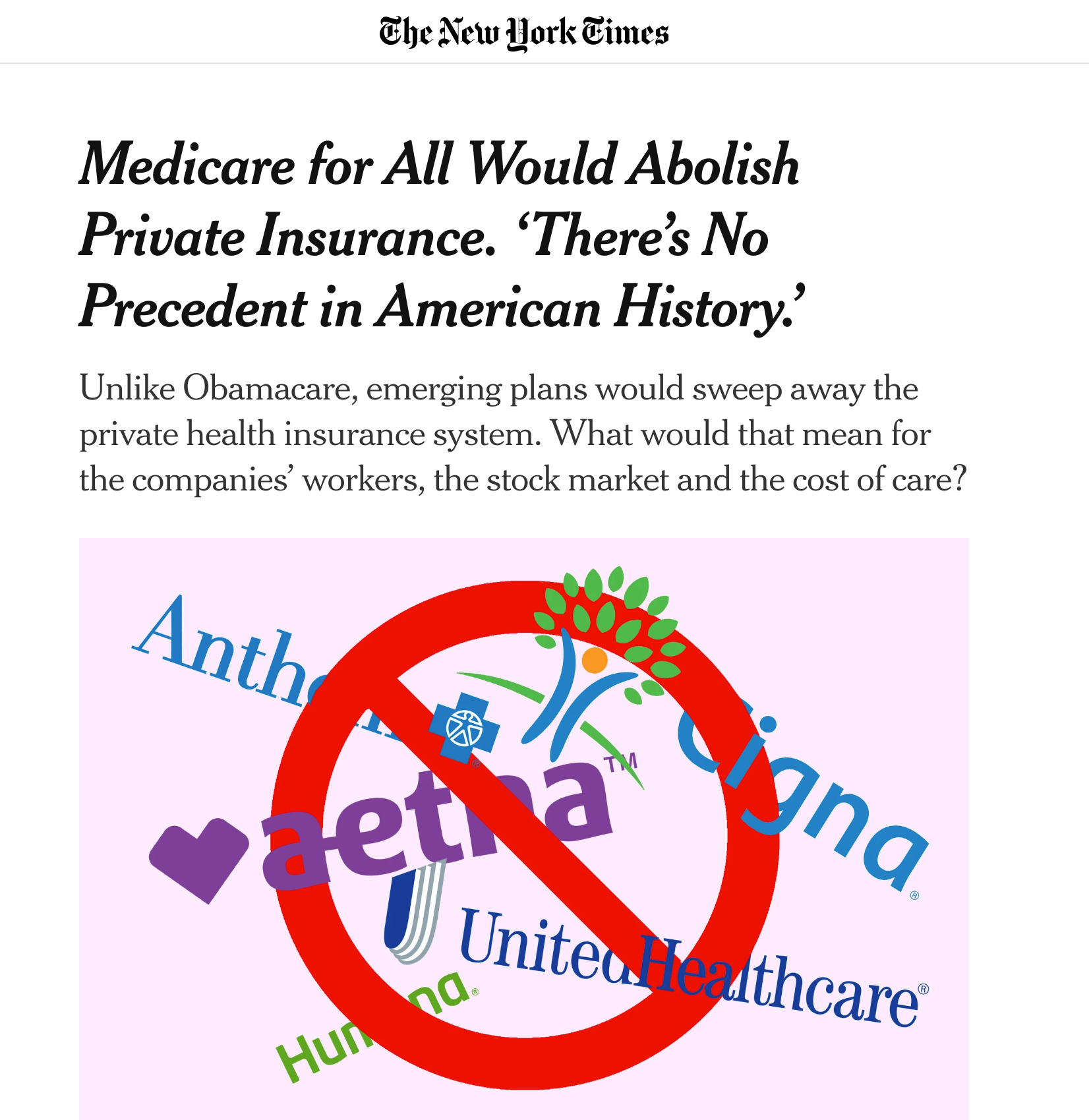 Medicare For All Would Abolish Private Insurance There S No
