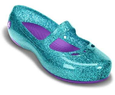 Ariel shoes when paired with the star Jibbitz Girls' Carlisa Glitter Flat C | Girls' Flats & Mary Janes | Crocs Official Site