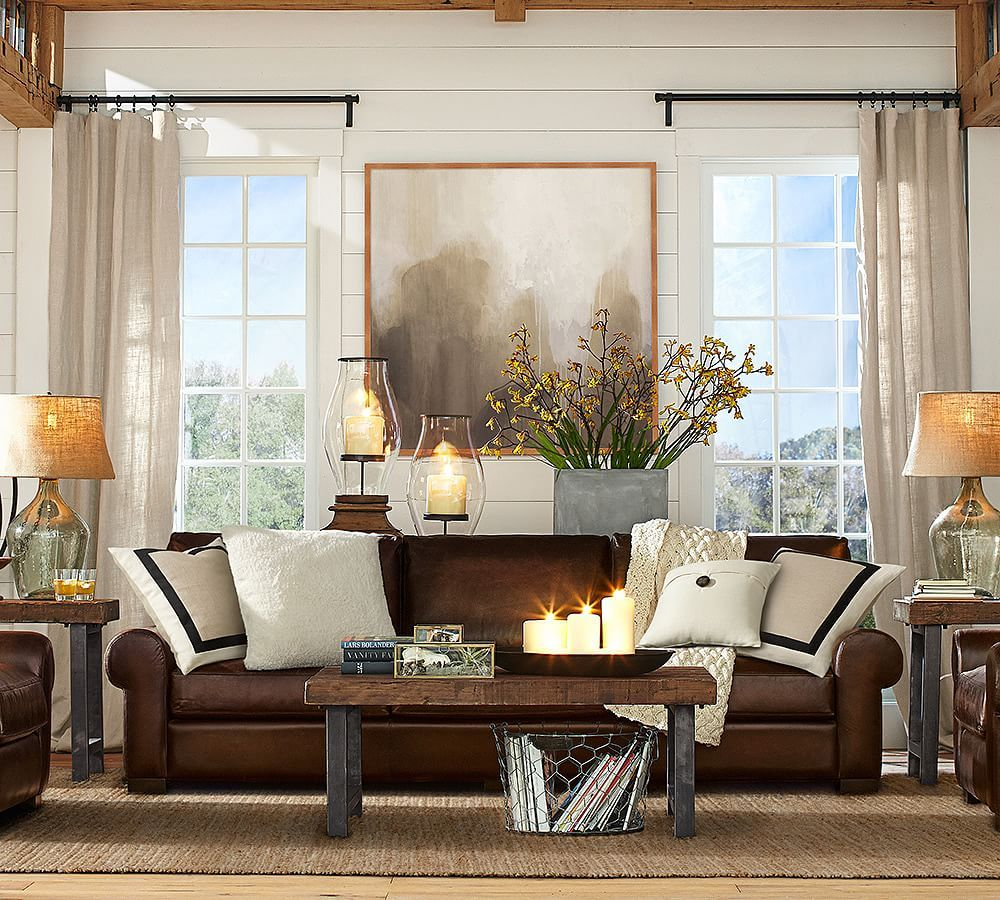 2293 Best Images About Leather Sofas And Living Room: Turner Roll Arm Leather Sleeper Sofa