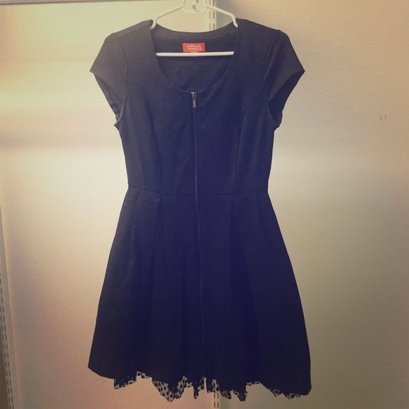 | Kirna Zabete at Target Dress Dark gray with black polka dot lining, this dress is a fun piece for any closet! Fabric has some stretch, which makes for a super comfortable fit. Front zipper closure. Kirna Zabete Dresses