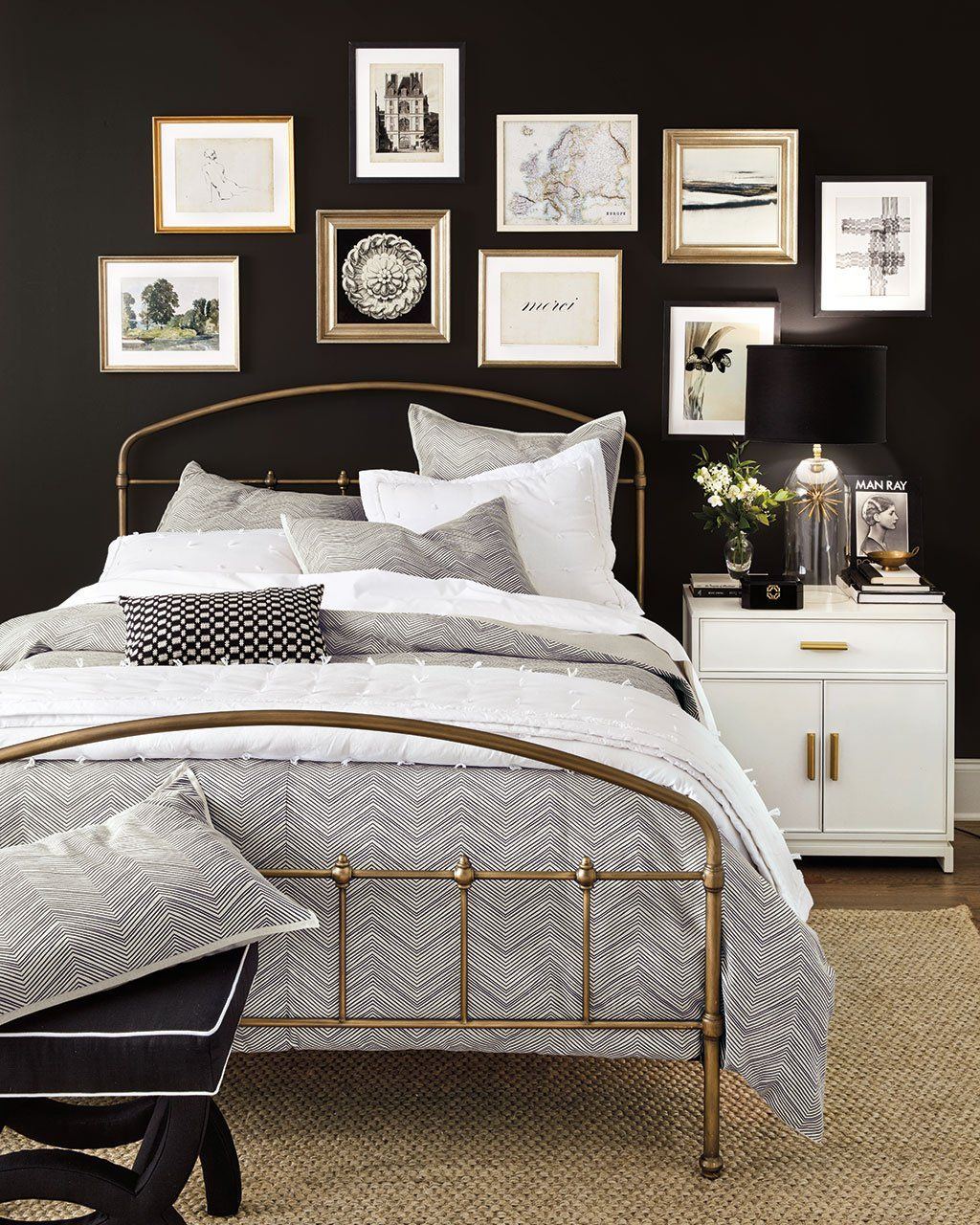 8 Reasons We Love Decorating With Black And White How To Decorate Black Walls Bedroom White Furniture Furniture