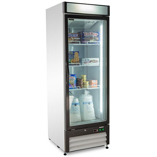 Kratos Refrigeration 69k 826 Swing Glass Door Freezer 1 Door 27 W 23 Cu Ft White Exterior In 2020 Glass Door Commercial Freezer Glass