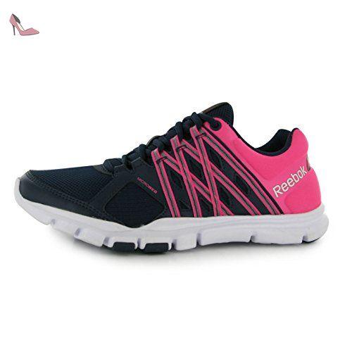 Reebok Yourflex Baskets pour femme Bleu marine/rose Sneakers Chaussures de  sport Chaussures, Bleu