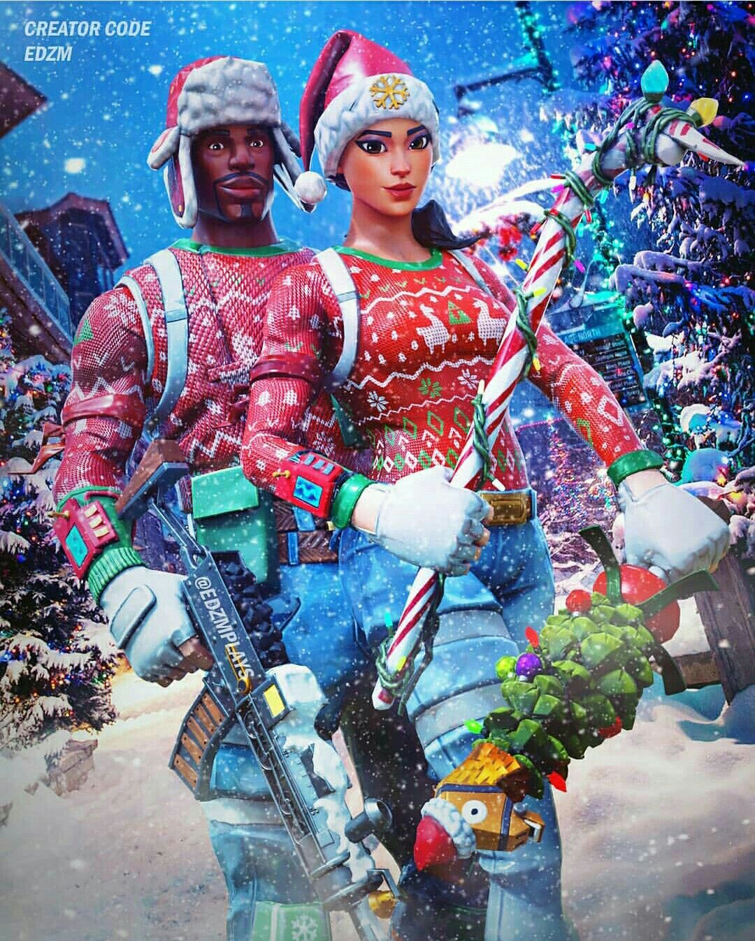 Merry Christmas Fortnite Best Gaming Wallpapers Best Profile Pictures Cute Couple Pictures