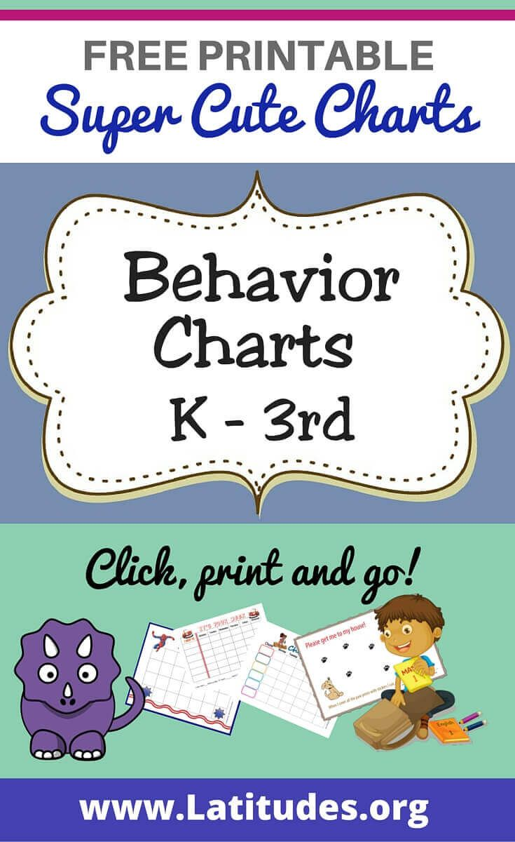 FREE Printable Behavior Charts for Teachers & Students (Kindergarten ...