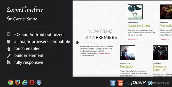 Awesome ZoomTimeline For CornerStone Timeline Pack Check More At - Timeline website template