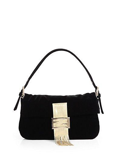 Fendi - Velvet Baguette Medium Shoulder Bag - Saks.com  a1e0c9dac2bb7