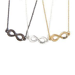 12238b7269cbc Best Friends Forever Infinity Symbol Pendant Necklaces Set of 3 <3 ...