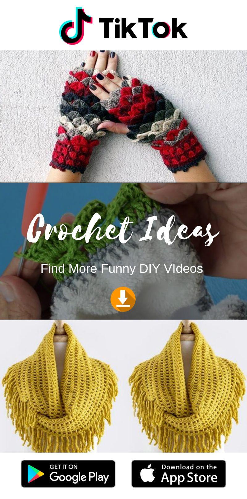 Tiktok Funny Short Videos Platform Crochet For Beginners Diy Crochet Clothing Hacks