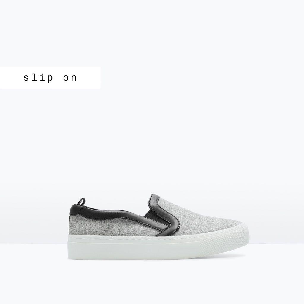 Image 1 De Tennis Tissu De Zara Sapatilhas Sapatos Mulher