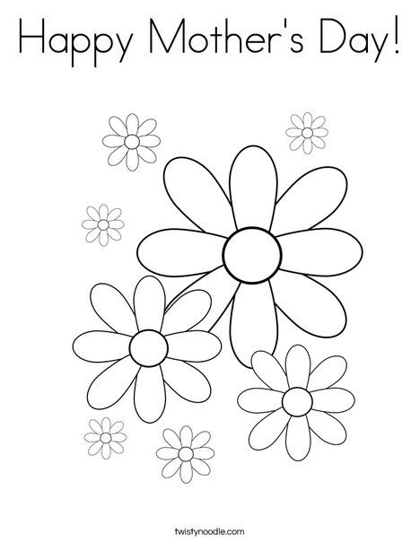 Happy Mother's Day Coloring Page | Girl scout daisy ...