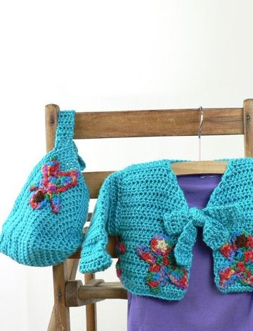Yarnspirations.com - Caron Around the World Baby Cardigan and Hat ...