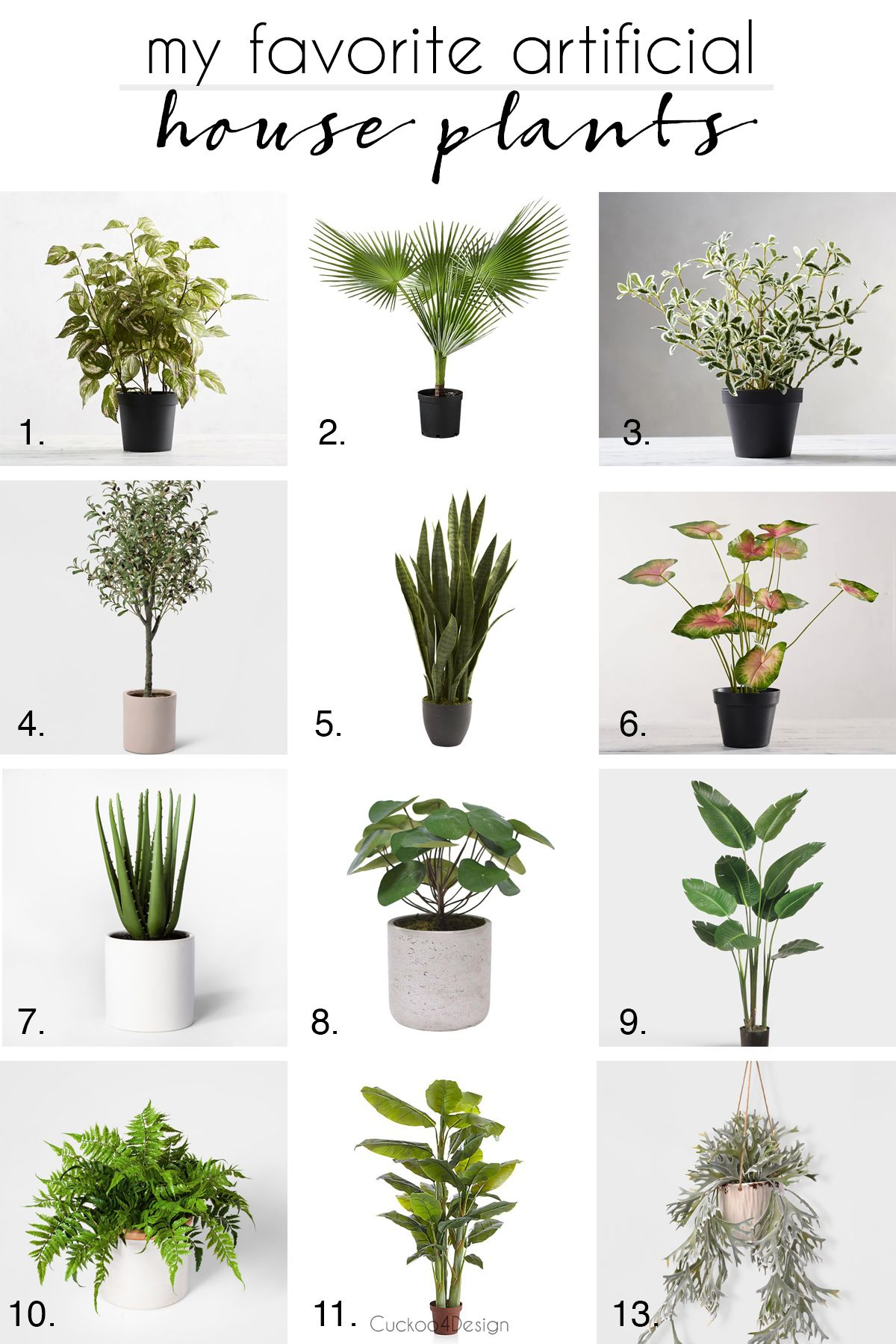 How To Choose Artificial House Plants Cuckoo4design Faux Plants House Plants Safe House Plants
