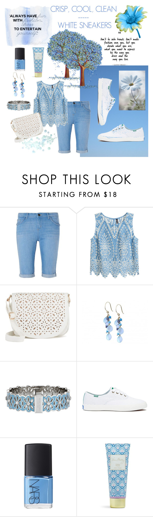 """White Sneakers"" by tjclay3 ❤ liked on Polyvore featuring Dorothy Perkins, Under One Sky, Henri Bendel, Keds, NARS Cosmetics, Vera Bradley, contest and whitesneakers"