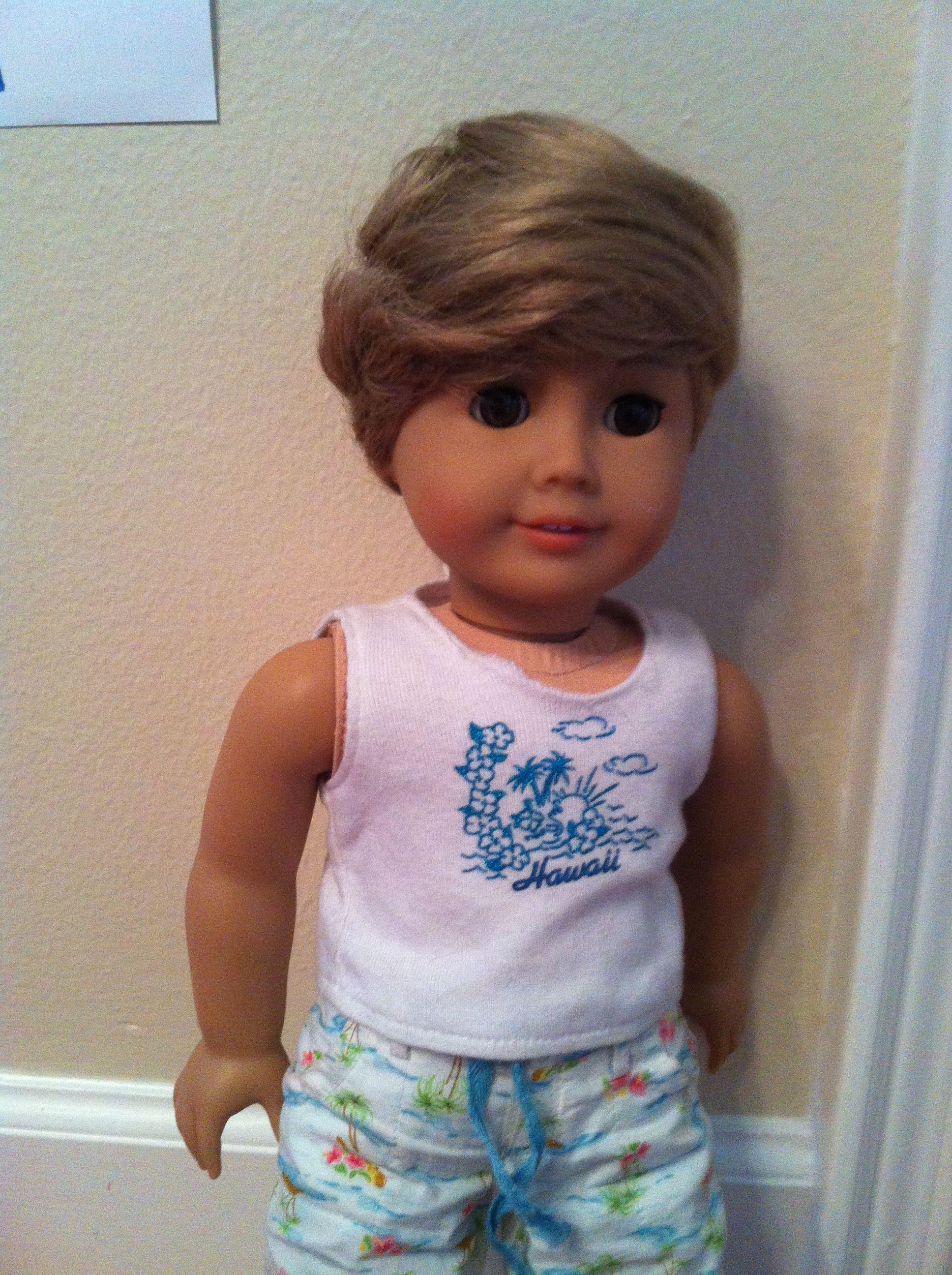 American Boy Doll Blonde Hair Light Skin Brown Eyes