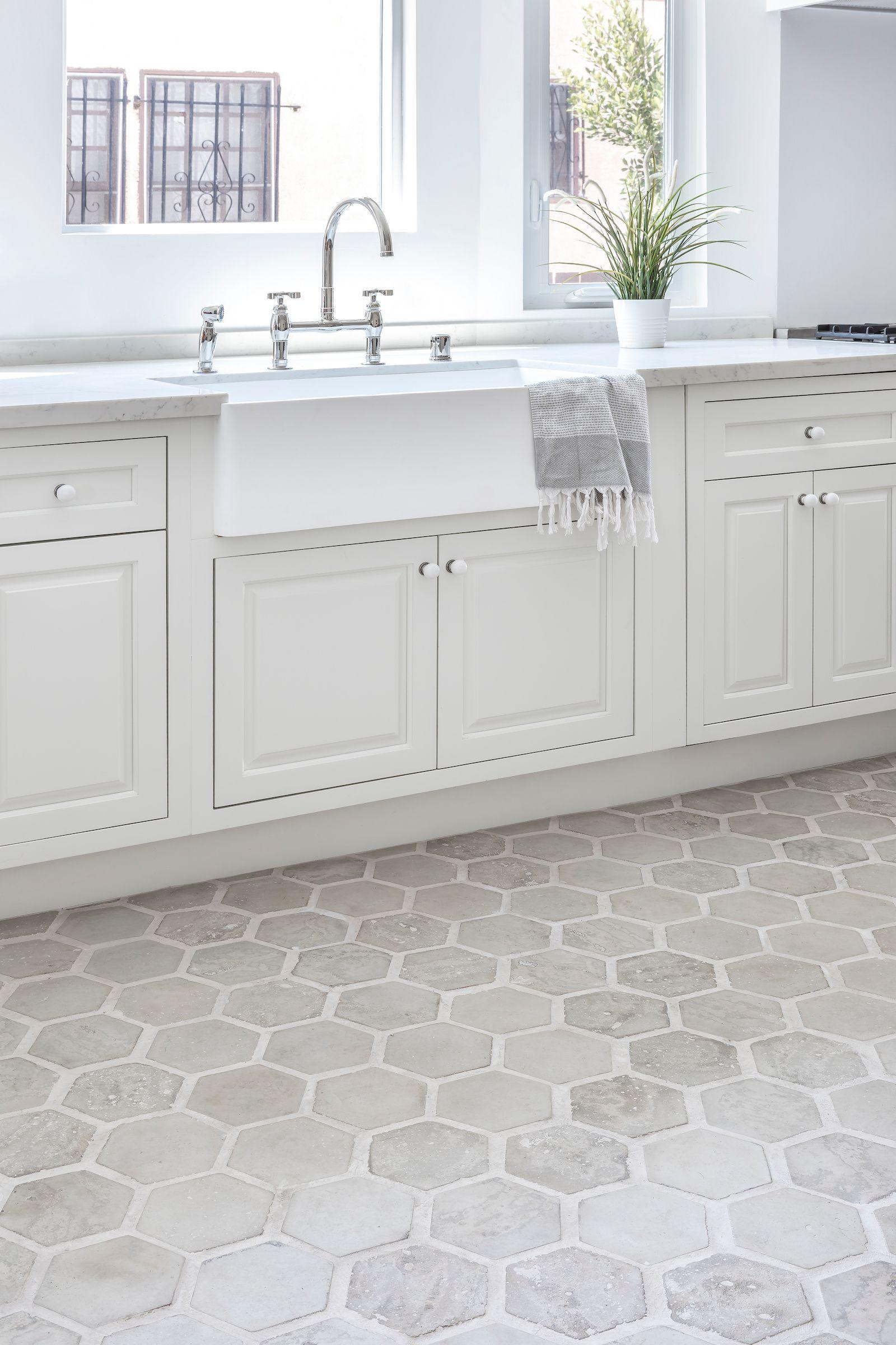 Tile Floor In 2020 Grey Kitchen Tiles Grey Tile Kitchen Floor Neutral Kitchen